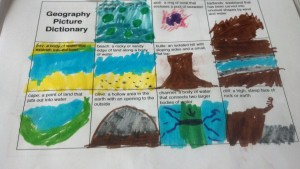 Liam worked on a Geography Picture Dictionary
