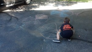 Outdoor fractions with chalk