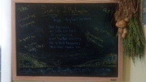 Chalkboard drawing for inspiration/referral