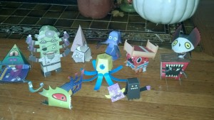 Monster paper crafts