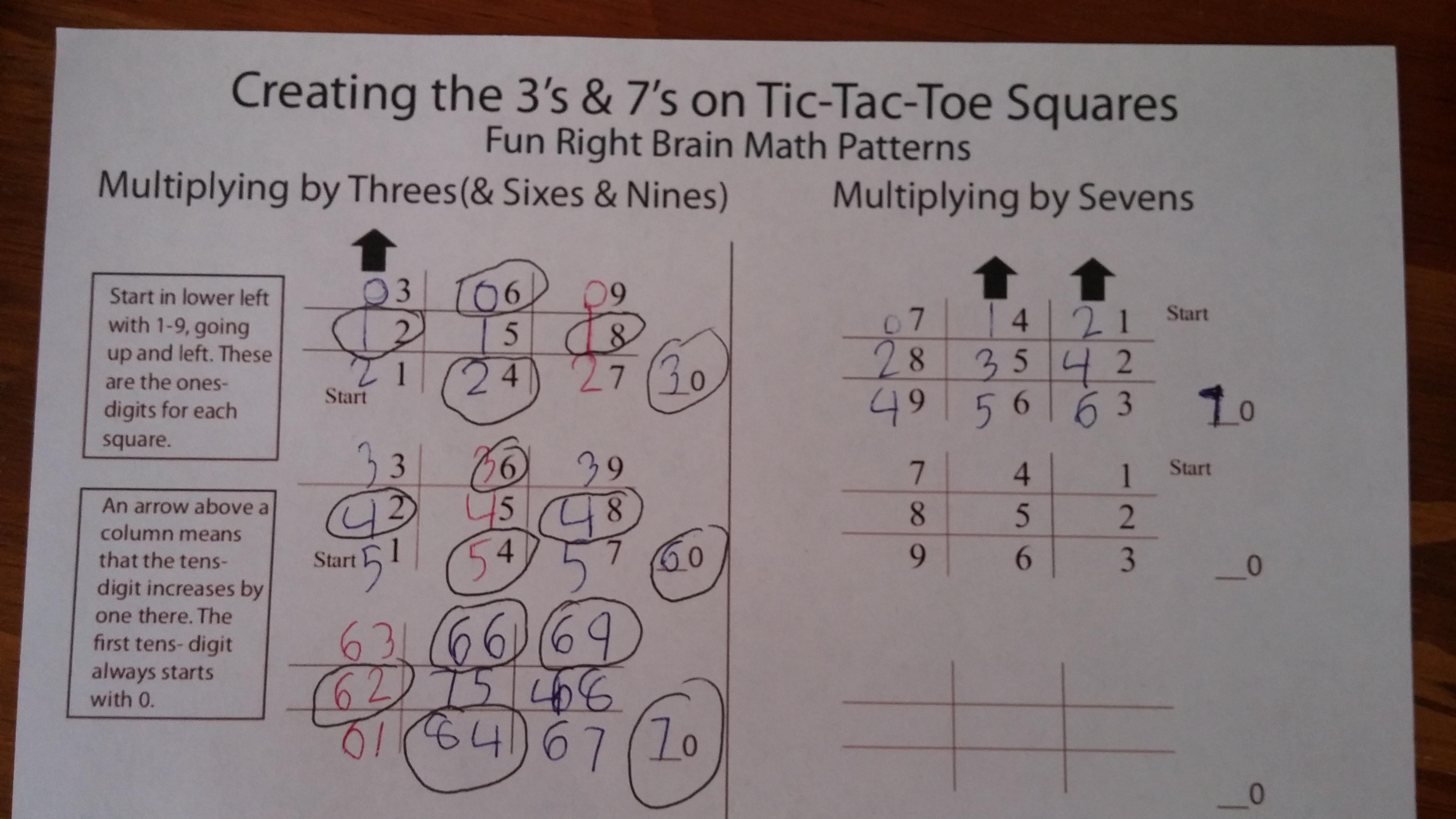 math worksheet : homeschooling  nature of homeschooling : Tic Tac Toe Math Worksheets